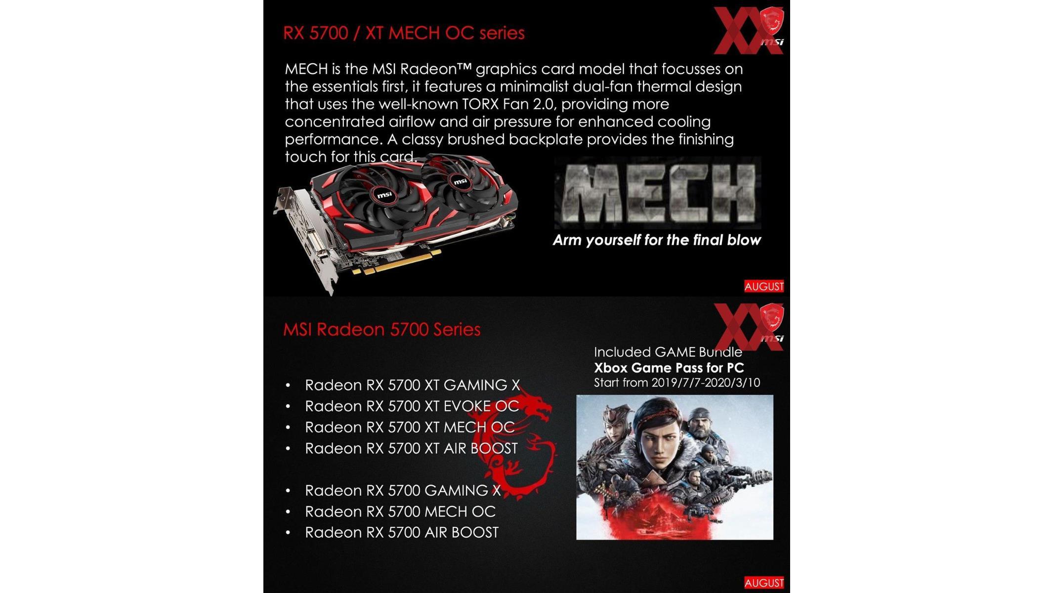 MSI Preps AMD Radeon RX 5700 Navi Graphics Card Arsenal With