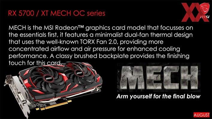 MSI Radeon RX 5700 Mech OC Series