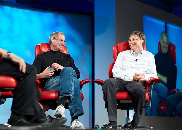Bill Gates and Steve Jobs