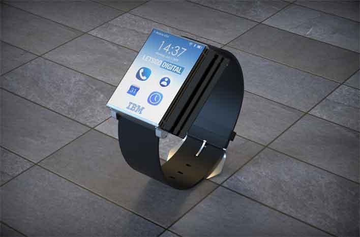 ibm folding smartwatch folded