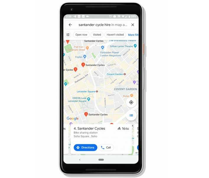 google maps bikes