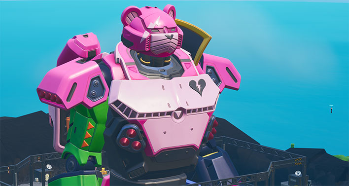 Fortnite's Giant Pink Robot Has Finally Finished Construction Ahead