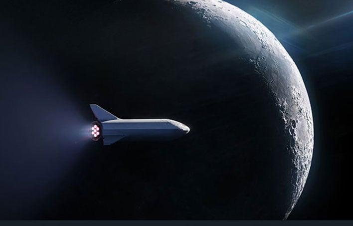spacex bfr mars illustration
