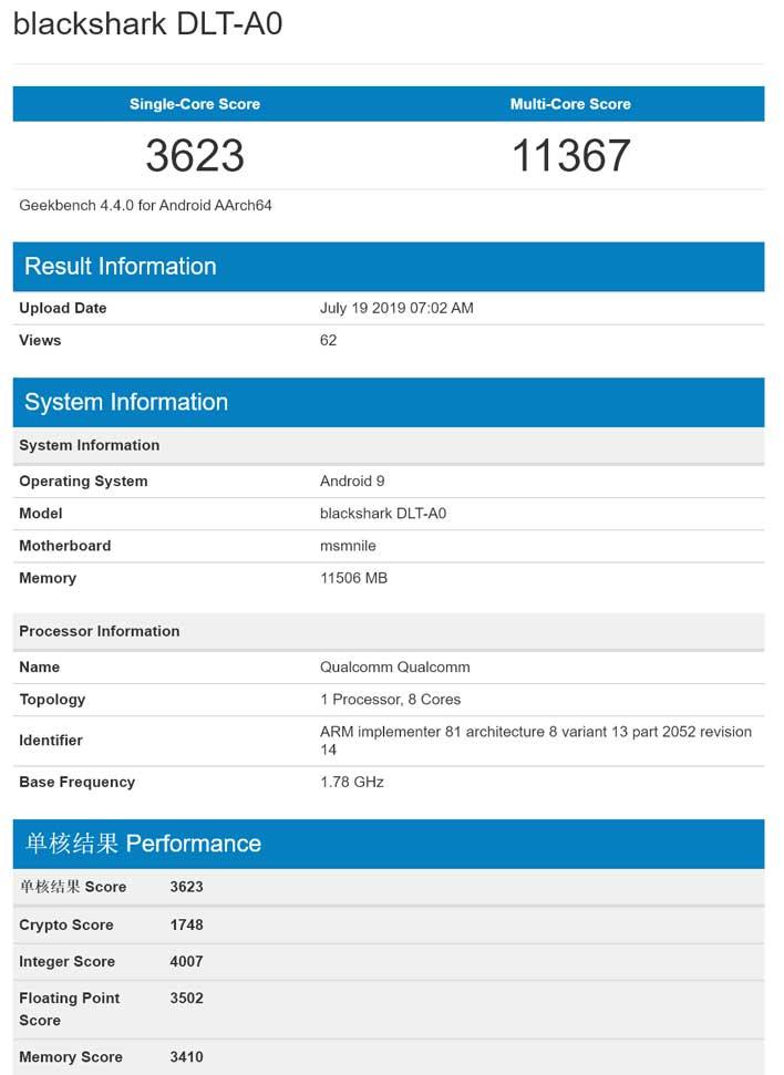 Xiaomi Black Shark 2 And Qualcomm Snapdragon 855 Plus