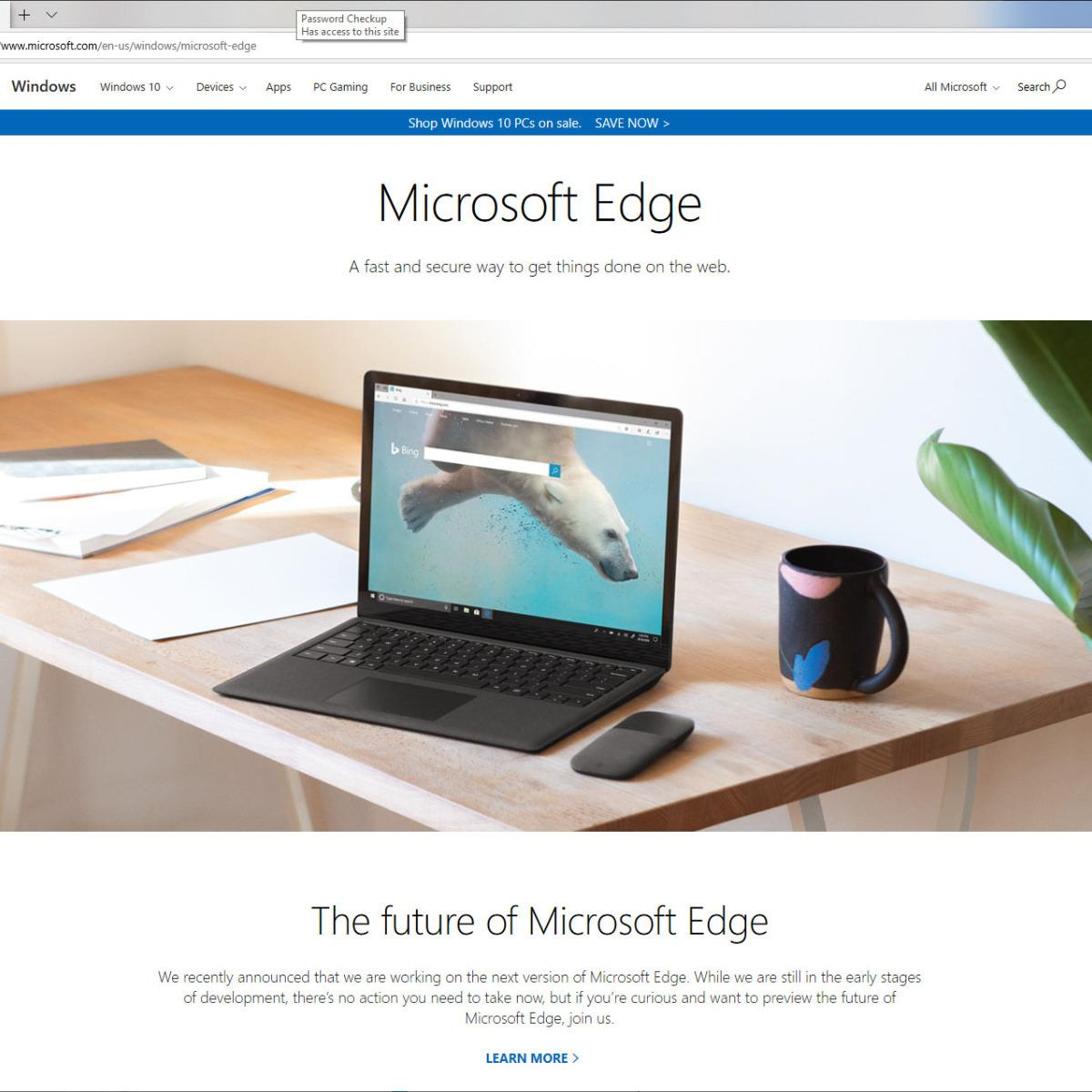 Microsoft Windows 10 Edge Browser SmartScreen Is Potentially