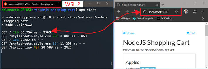 Windows 10 WSL Localhost