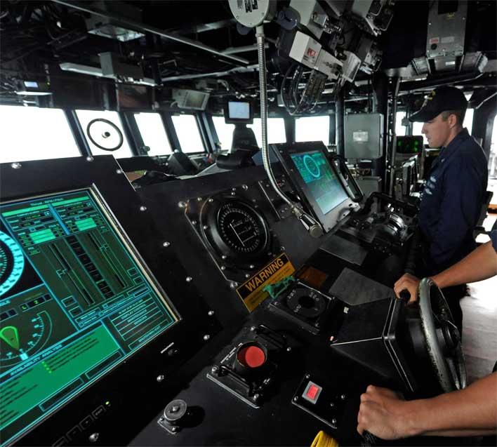navy ship helm
