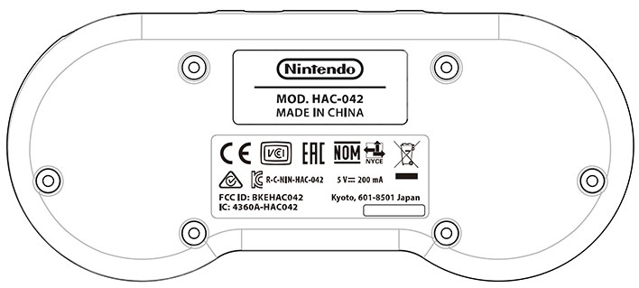 SNES Controller Diagram