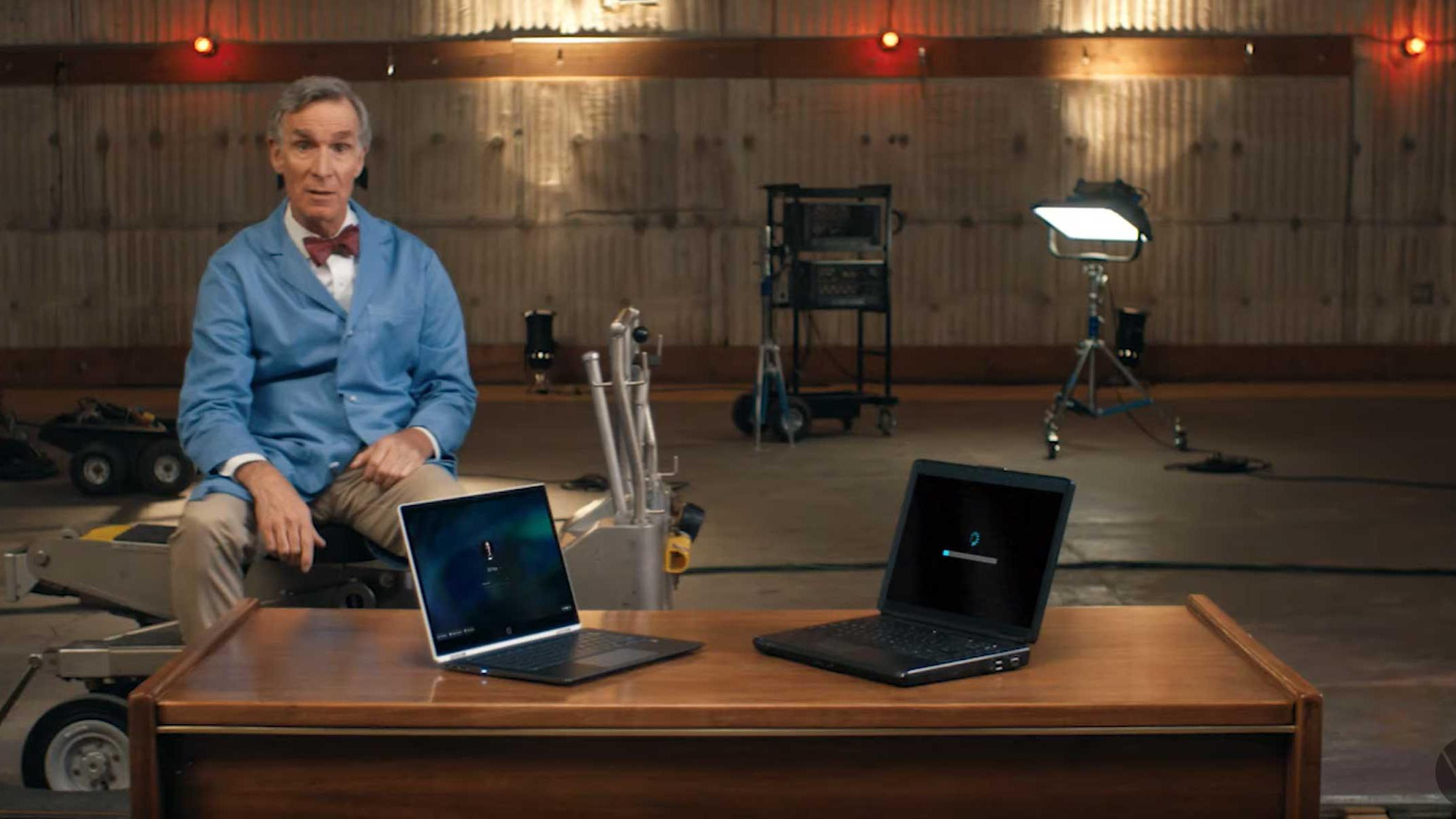 Bill Nye The Science Guy Headlines New Google Chromebook Ads