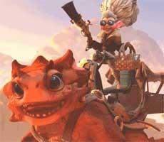 Dota 2's Latest Hero Snapfire Is A Cookie-Baking, Hell-Raising Grandma Riding A Cute Lil' Dragon