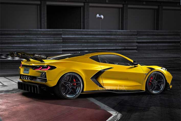 corvette z06 render front