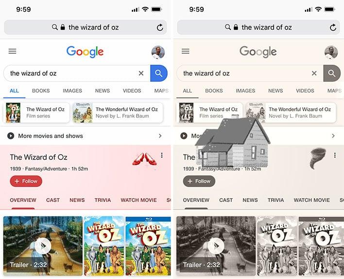 google celebrates wizard  oz  anniversary