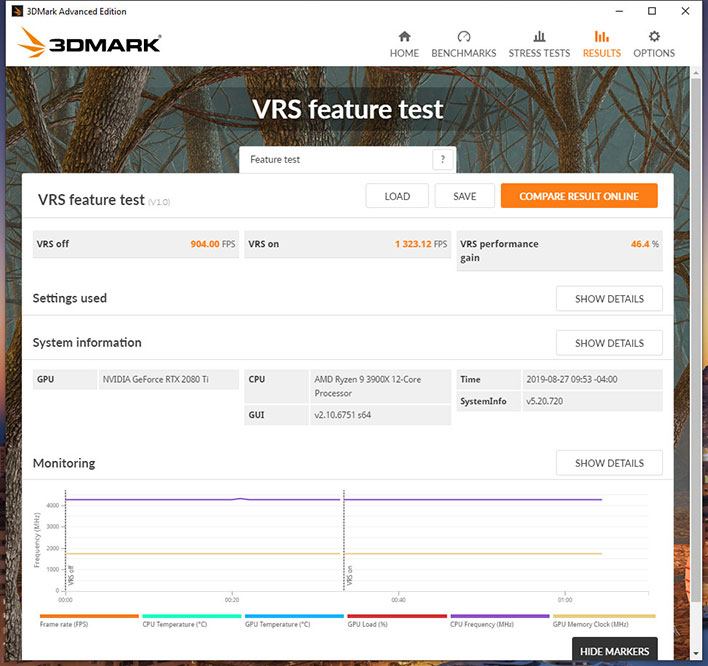 3DMark Variable Rate Shading GeForce RTX 2080 Ti Ryzen 9 3900X