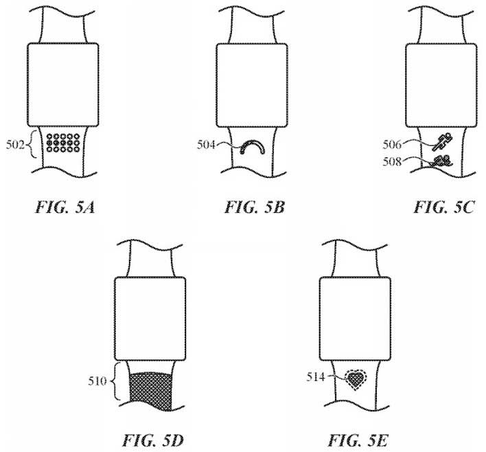 apple watch smart bands patent activity