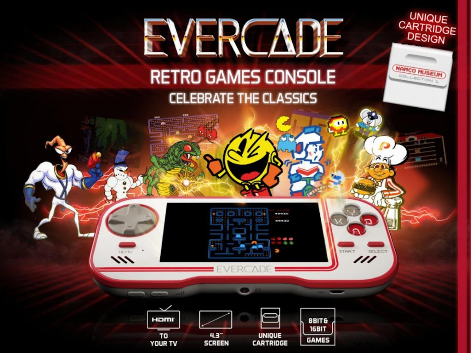 Preorders Open For Funky But Cool Evercade Retro Handheld