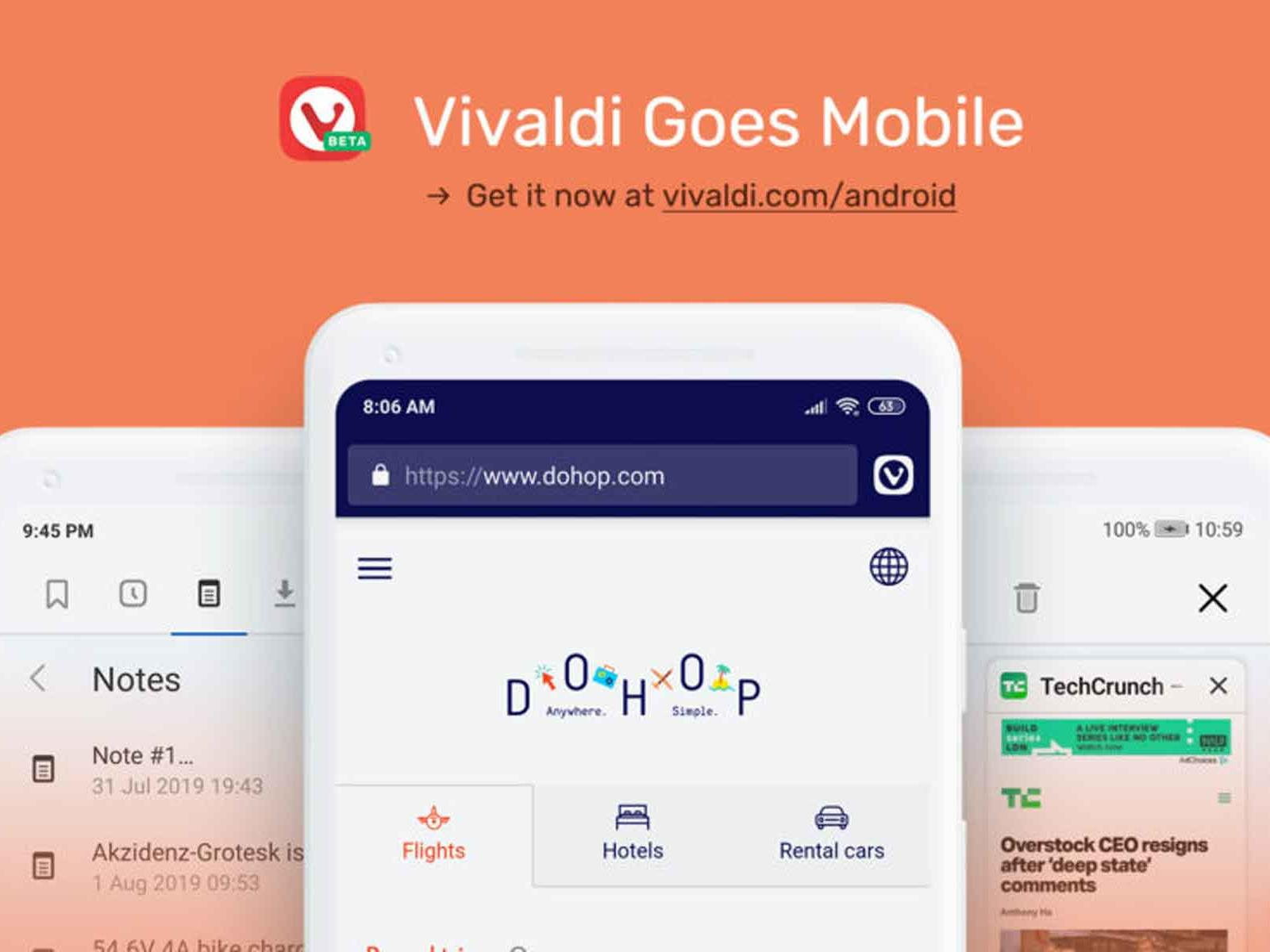 Vivaldi's Customizable Web Browser Lands On Android