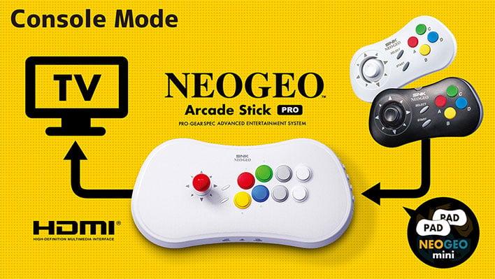 Neo Geo Arcade Stick Pro Console Mode