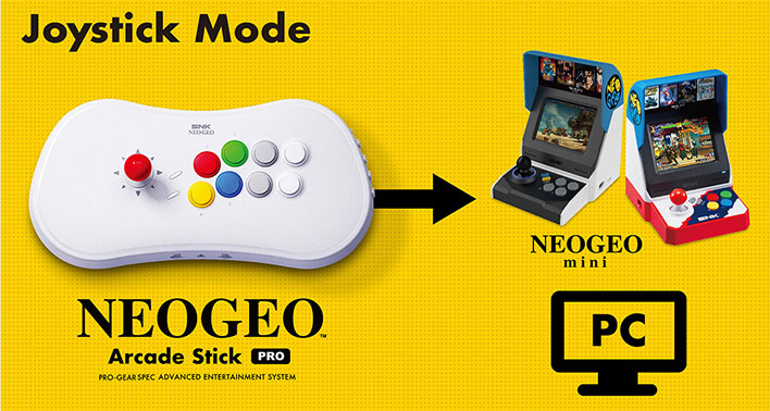 Neo Geo Arcade Stick Pro Joystick Mode