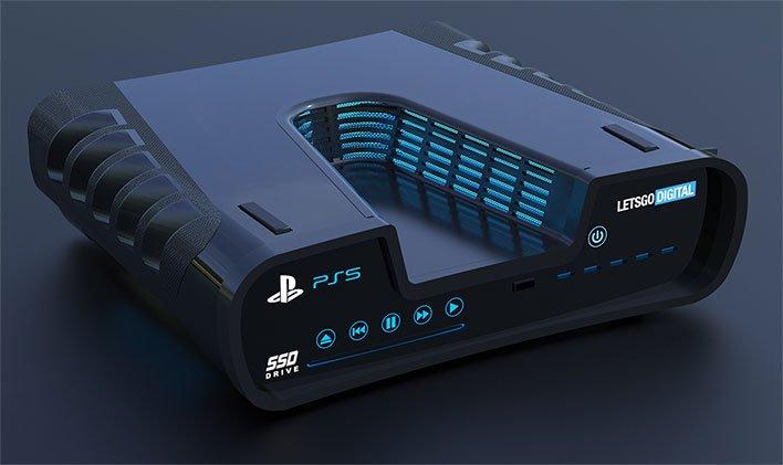 PlayStation 5 Render Angled