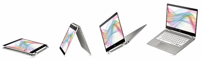 HP Chromebook x360 14b NaturalSilver Ceramic