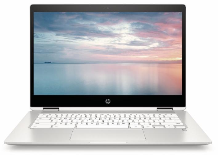 HP Chromebook x360 14b NaturalSilver CeramicWhite Front