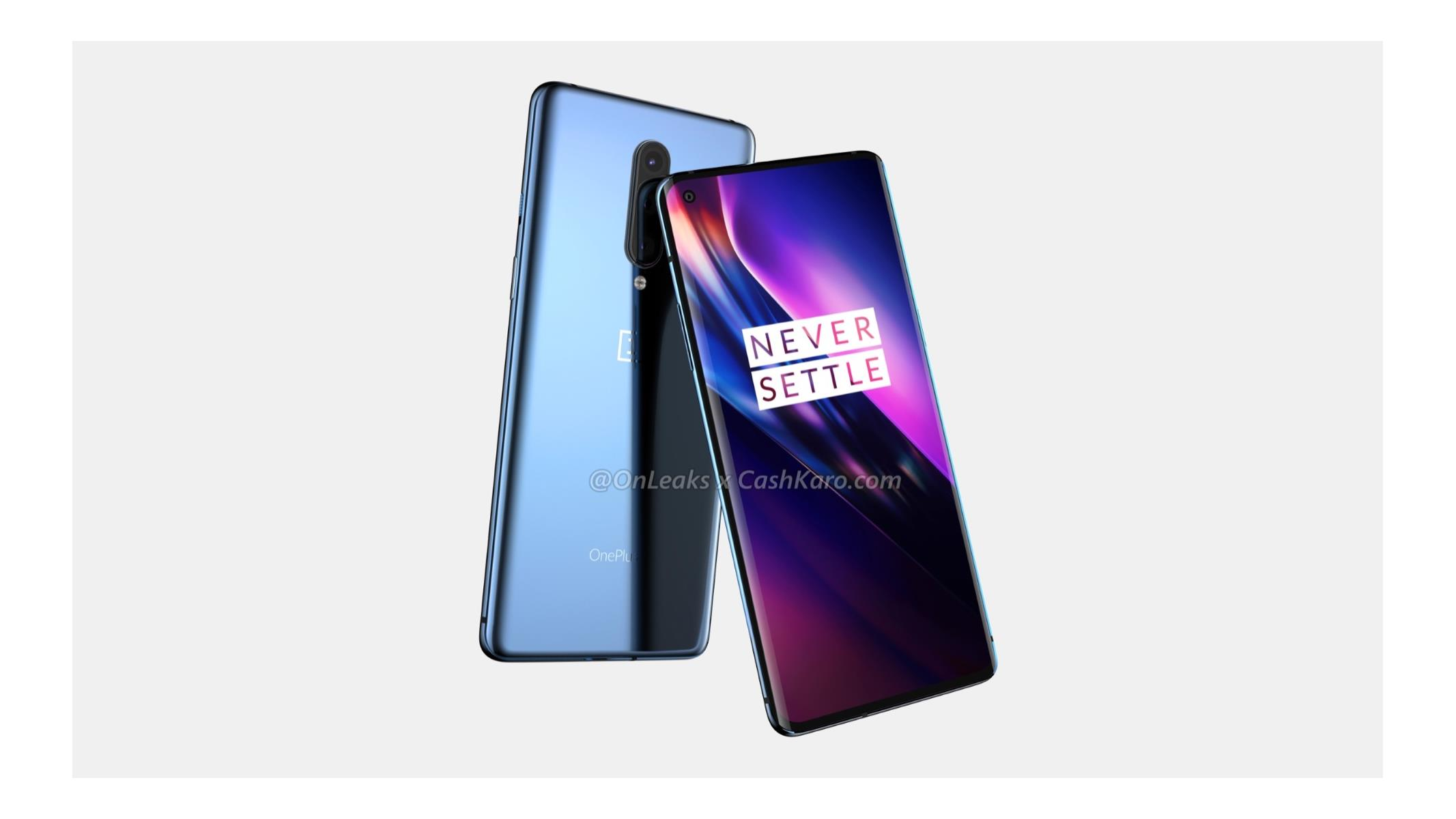 OnePlus 8 Renders Frame Android 10 Flagship With Hole Punch Selfie Cam, Thinner Bezels
