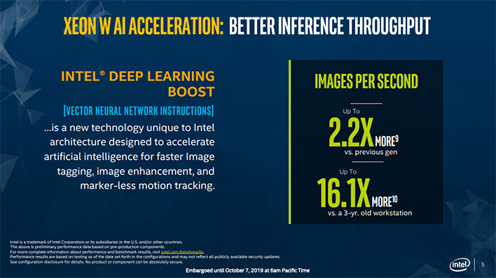 Intel Xeon W 2200 Series Artificial Intelligence
