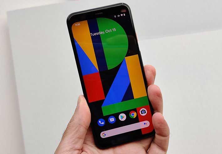 pixel 4 in hand