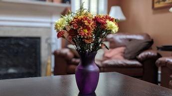 Pixel 4 portrait flowers