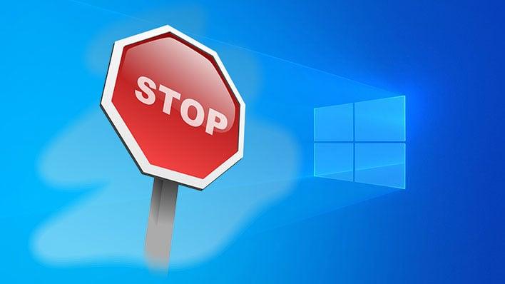 Windows 10 Stop
