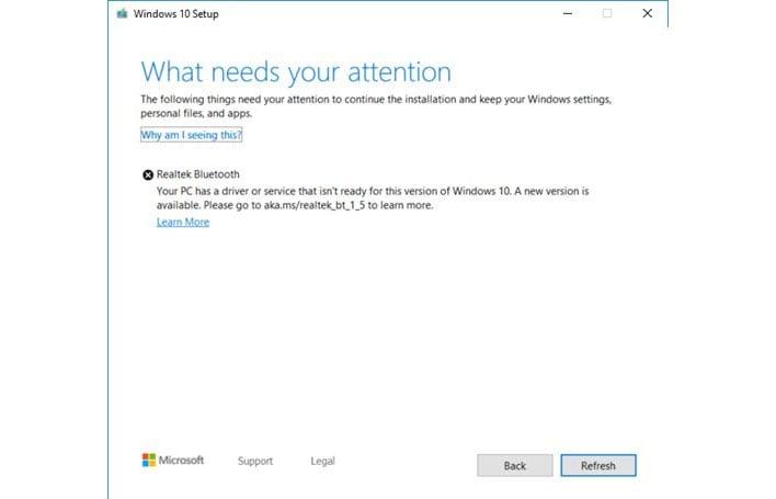 Windows 10 Realtek Bluetooth Error