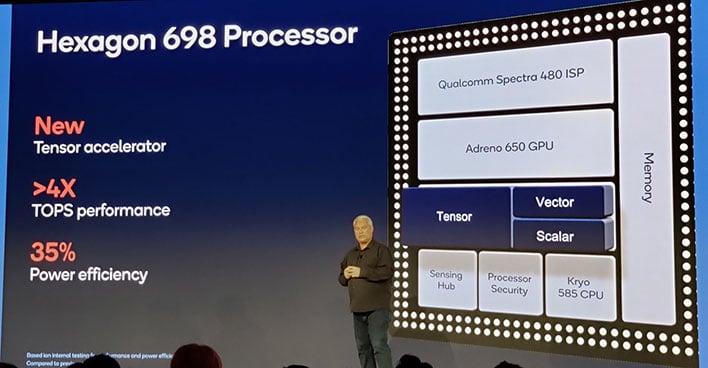 Qualcomm hexagon 698 processor and tensor core