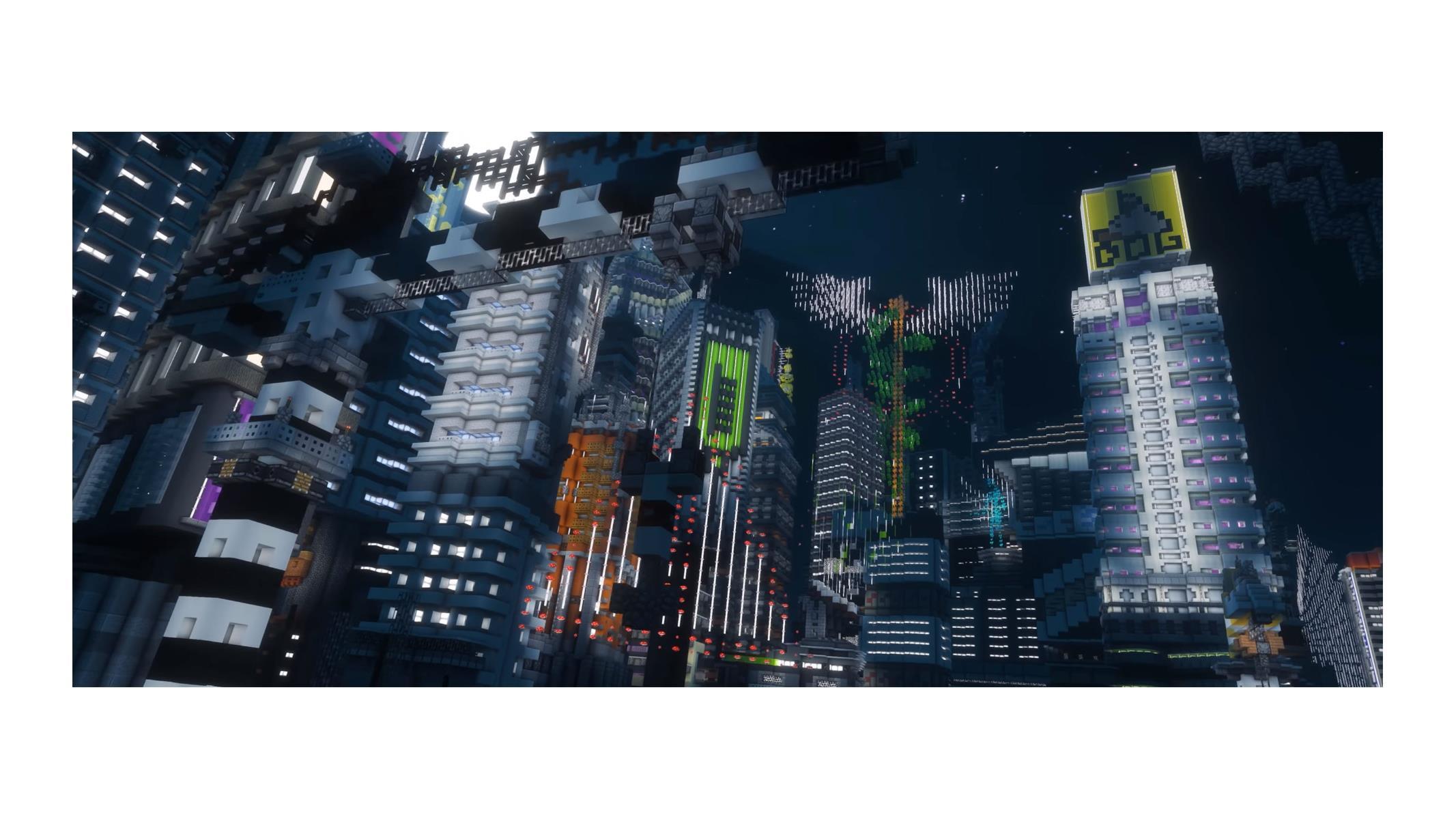 Minecraft Enthusiasts Build A Fantastic Cyberpunk 2077