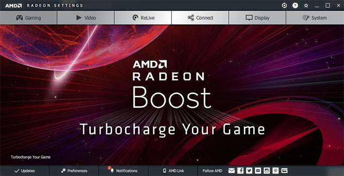 AMD Radeon Software Adrenalin Edition 2020 Radeon Boost
