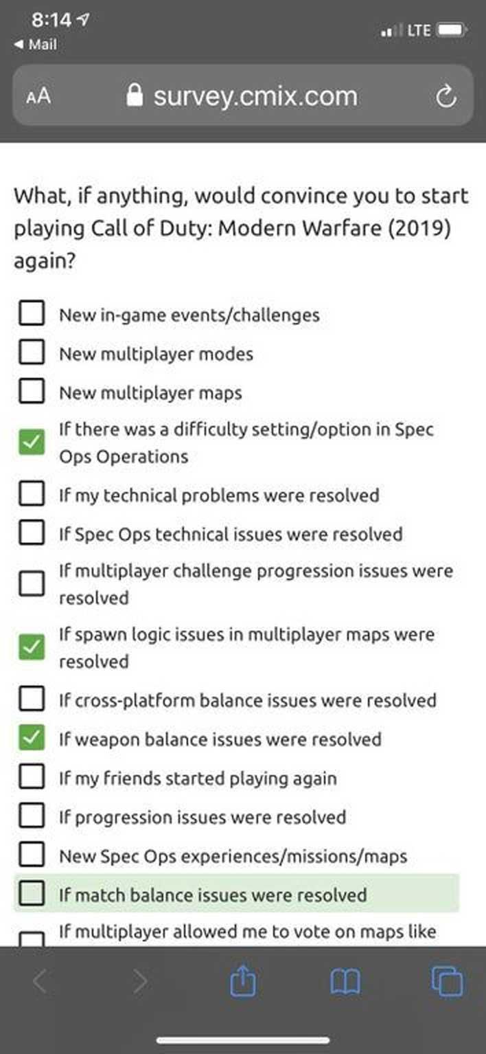 mw survey