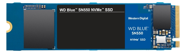 WD Blue SN550 SSD front