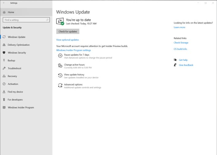 windows10 update