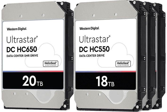 WD 20TB and 18TB HDDs
