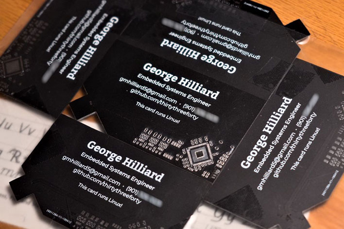 hilliard linux business card pack