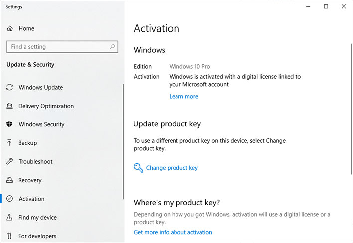 Windows 10 Acvitation Screen