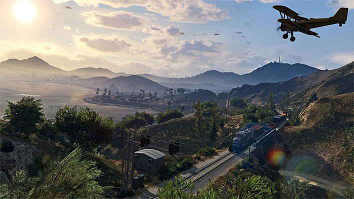 Grand Theft Auto V Plane and Traine