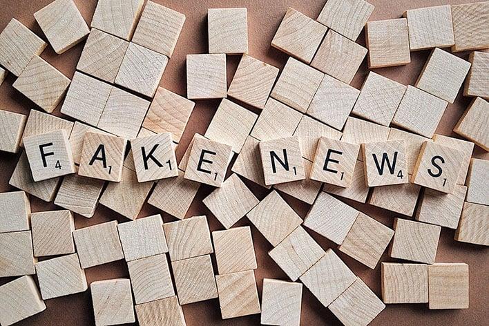 Fake News Scrabble Tiles