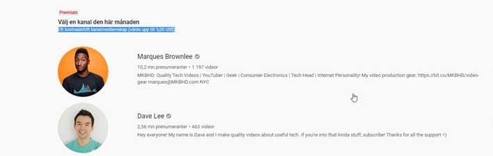 youtube offer