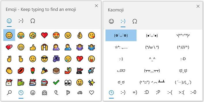 Windows 10 Emojis