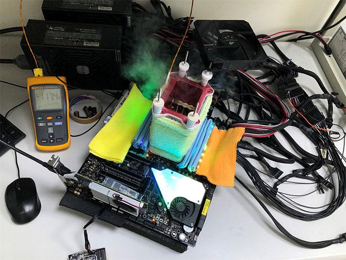 AMD Ryzen Threadripper 3990X Overclocking Testbed