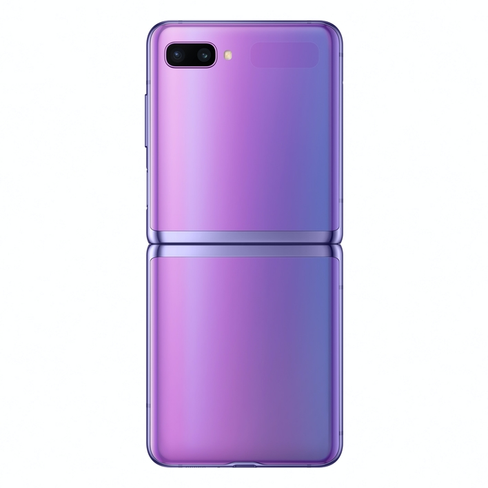 006 galaxyzflip mirror purple unfolded back