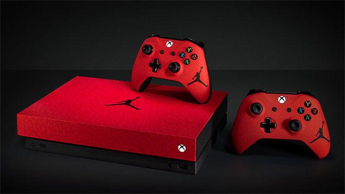 Microsoft Xbox One X Jordan Themed Console