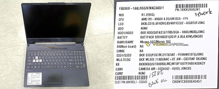 Asus prepara una gama de portátiles con el AMD Ryzen 9 4900H