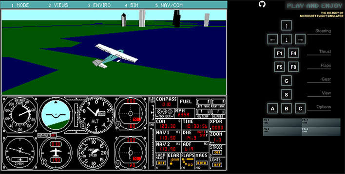 Take Off With These Retro Versions Of Microsoft Flight Simulator Playable  In Your Web Browser | HotHardware