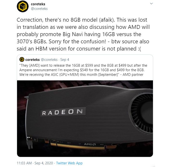 Radeon RX 6000 Series Pricing